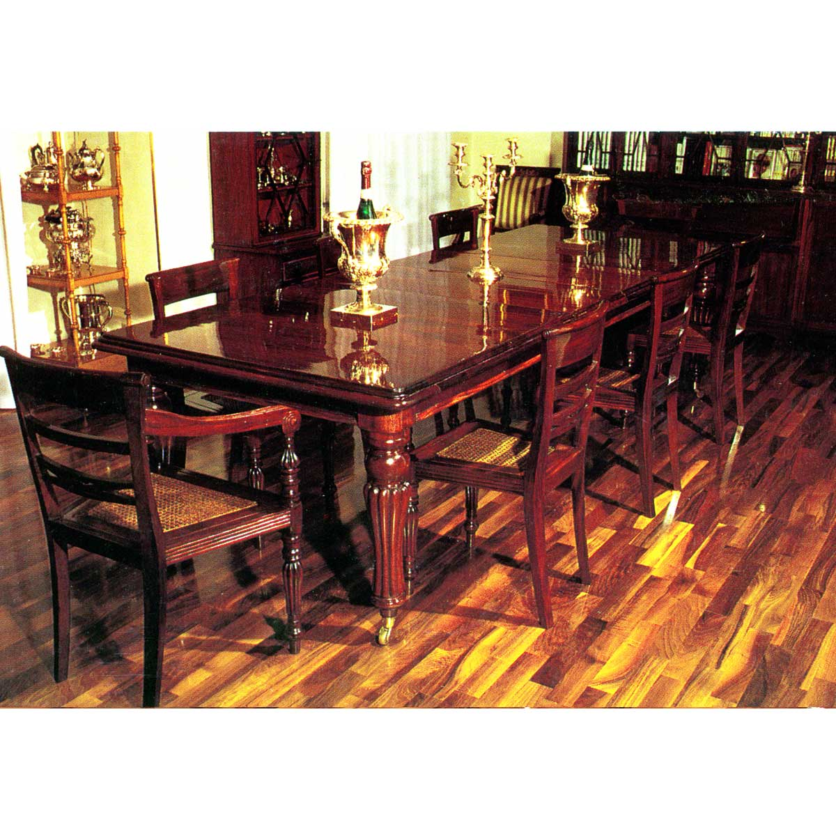 Extension Dining Table Square End 9 Seat